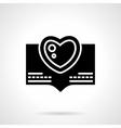 Love message black silhouette icon vector image