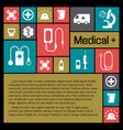 medical background metro style vector image vector image