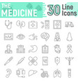 medicine thin line icon set hospital symbols vector image vector image