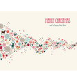 Merry Christmas wave composition greeting card vector image