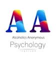 Modern logo of Psychology Creative style vector image
