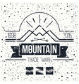 Mountain retro emblem vector image vector image