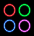 Neon signboard for design circles vector image vector image