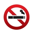 No smoking sign No smoke icon Stop smoking vector image