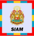 official ensigns flag and coat of arm of siam vector image vector image
