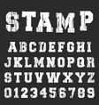 old textured alphabet font template vector image vector image