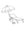 parasol flops ball and chair vector image
