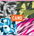 pattern camo army soldier abstract vector image vector image
