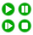 Play pause stop forward buttons set vector image vector image