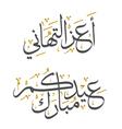 Professional Islamic Greeting vector image vector image