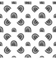 rainbow black and white pattern rainbow pattern vector image vector image