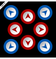 red and blue arrows - eight directions vector image