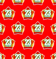 Red Star and 23 February seamless pattern vector image vector image