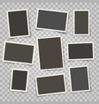 retro photo frames templates vector image
