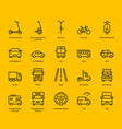 road transport icons vector image vector image