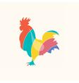 Roosterlogocolor vector image vector image