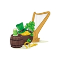 Saint Patricks Day Scene vector image