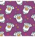 seamless pattern with cute baby bodysuit vector image vector image