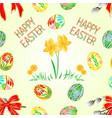 seamless texture happy easter decoration easter vector image vector image