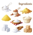 Set of food icons Ingredients for cooking vector image vector image