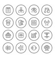set round line icons of ophthalmology vector image vector image