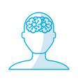 shadow blue brain faceless vector image
