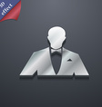 Silhouette of man in business suit icon symbol 3D vector image