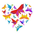 Spring Origami butterfly love vector image vector image