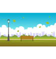 Summer City Park vector image vector image