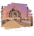 Taj Mahal drawing vector image vector image