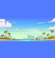 tropical landscape with sea bay and sand beach vector image