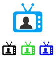 tv speaker flat icon vector image