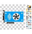 videocard icon with bonus vector image vector image