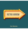 Volume retro arrow with lights vector image vector image