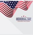 waving american flag memorial day vector image
