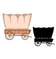 wild west wagon western color vector image