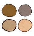 wood slice texture tree circle cut raw material vector image vector image