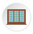 wooden brown tricuspid window icon circle vector image vector image