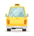 Yellow taxi vector image vector image