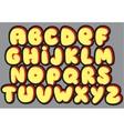 Graffiti font alphabet different letters vector image