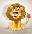 Cute cartoon character lion vector image