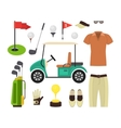 Golf Equipment Set vector image