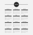 2020 year calendar vertical design vector image vector image