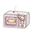 A microwave is placed vector image vector image