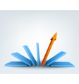 Abstract 3d arrow with place for text vector image vector image