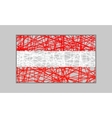Austria flag design concept vector image vector image