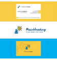 beautiful thinking about dollar logo and business vector image