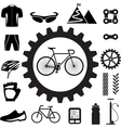 Bicycle icons set eps 10 vector image
