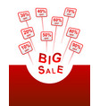 big sale plates indicating discount vector image vector image