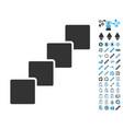 blockchain icon with bonus pictograms vector image vector image